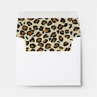 El leopardo mancha el interior del modelo sobre