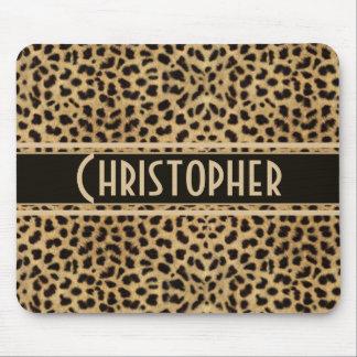 El leopardo mancha el modelo alfombrilla de ratón