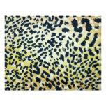 El leopardo mancha el papel de Scrapbooking Membrete A Diseño