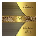 El leopardo negro del oro invita a la 50.a fiesta anuncios personalizados