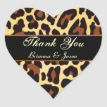 El leopardo negro del oro le agradece calcomania de corazon