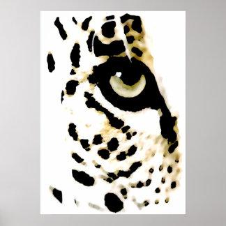 El leopardo observa el poster - animales salvajes