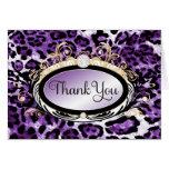 El leopardo púrpura del oro opulento 311 le agrade tarjeta
