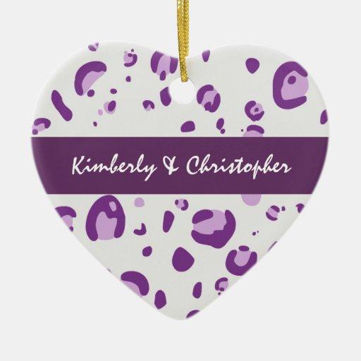 El leopardo púrpura junta el ornamento C018 Ornamente De Reyes