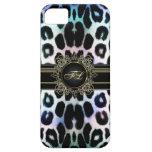 El leopardo real del arco iris personalizó la caja iPhone 5 carcasas