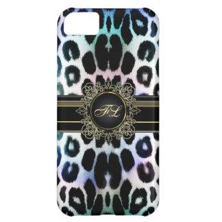 El leopardo real del arco iris personalizó la caja funda para iPhone 5C