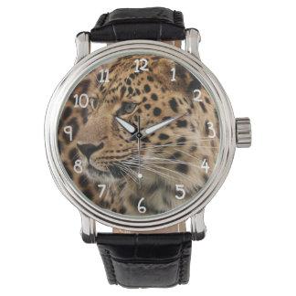 El leopardo reloj de mano
