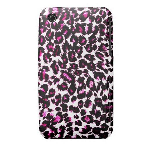 El leopardo rosado mancha el modelo iPhone 3 carcasa