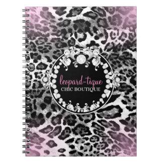 El Leopardo-Tique 311 rosado se descolora Cuaderno