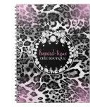 El Leopardo-Tique 311 rosado se descolora Libreta Espiral