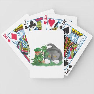 El Leprechaun escoge un trébol de cuatro hojas Baraja Cartas De Poker