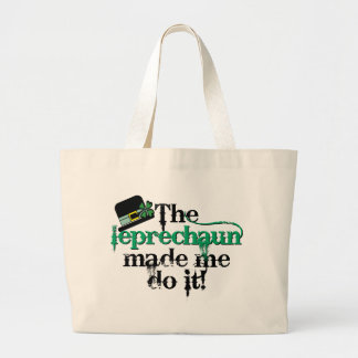 El leprechaun hizo que lo hace (el gorra) bolsas lienzo