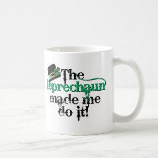 El leprechaun hizo que lo hace (el gorra) taza