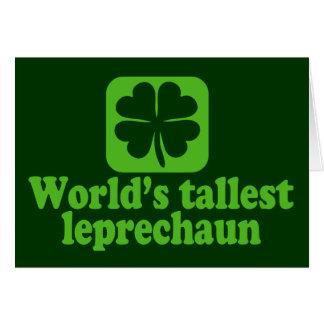 El Leprechaun más alto de los mundos Tarjetón