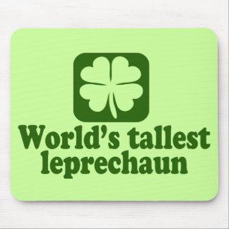 El Leprechaun más alto del mundo Tapetes De Ratón