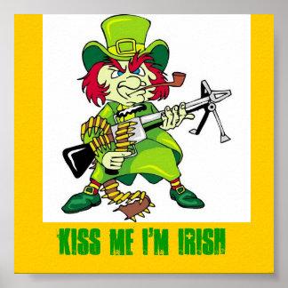 el leprechaun, ME BESA que soy IRLANDÉS Poster