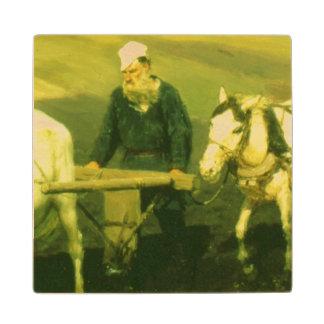 El lev Nikolaevich Tolstoy del escritor Posavasos De Madera