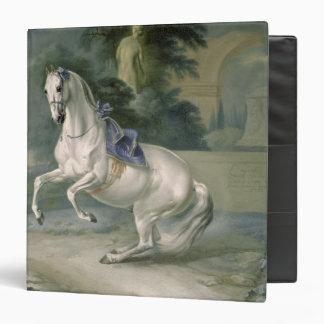 """El levade """"Leal"""" blanco del en del semental, 1721 Carpeta 1 1/2"""""""