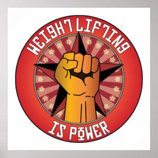 El levantamiento de pesas es poder posters