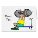 El levantamiento de pesas le agradece las tarjetas