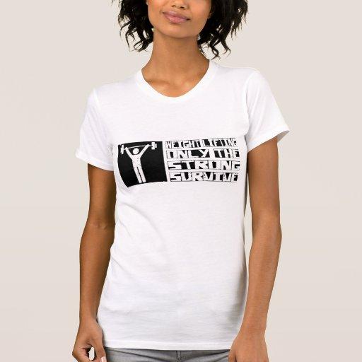 El levantamiento de pesas sobrevive camiseta