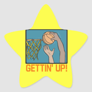 El levantarse pegatina en forma de estrella