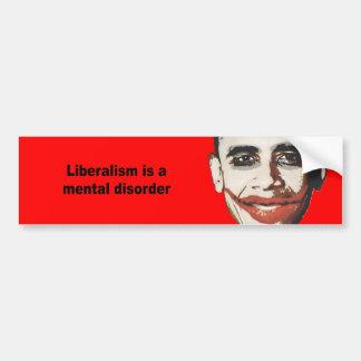 El liberalismo es un trastorno mental pegatina para auto