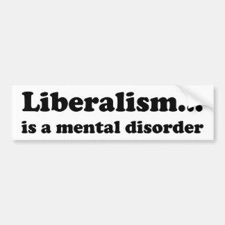 El liberalismo… es un trastorno mental pegatina para auto