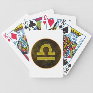 El libra protagoniza naipes baraja cartas de poker