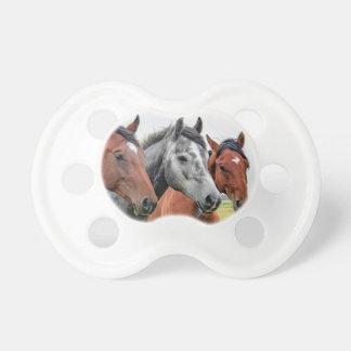 El librar maravilloso de la fauna de los caballos chupetes para bebes