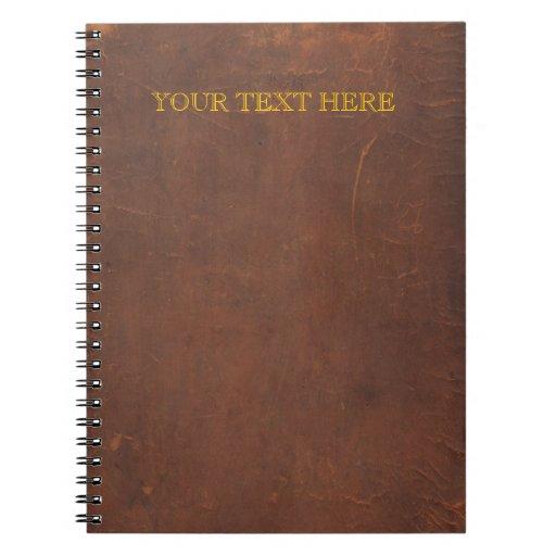 """El libro antiguo/el libro viejo/el falso """"cuero li libros de apuntes"""
