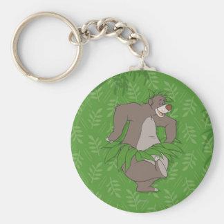 El libro Baloo de la selva con la falda de hierba Llavero Redondo Tipo Pin