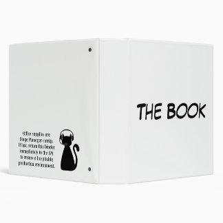 "El libro: Catnip del director de escena Carpeta 1 1/2"""