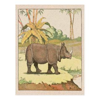 El libro de la historia del rinoceronte tarjeta postal