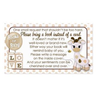 El libro de la jirafa pide #2 en vez de una tarjetas de visita