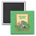 El libro de la selva - Mowgli y Baloo Imán Cuadrado