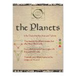 """El libro de los planetas """"solenoide"""" de la página invitación 13,9 x 19,0 cm"""