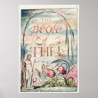 El libro de Thel; Página de título, 1789 Póster