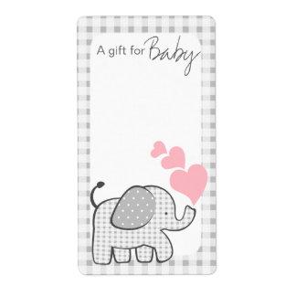 El libro del elefante de la guinga marca corazones etiquetas de envío