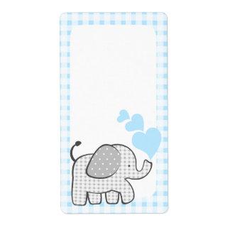 El libro del elefante de la guinga marca corazones etiqueta de envío