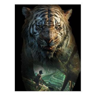 El libro el | Shere Khan y Mowgli de la selva Tarjetas Postales