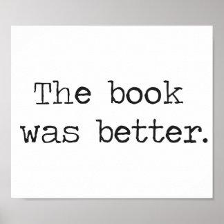 El libro era mejor póster