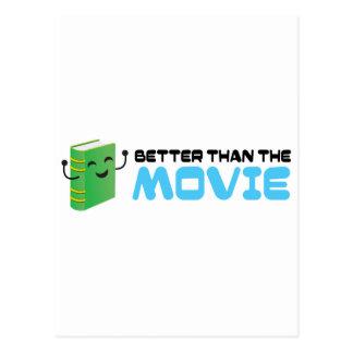 ¡El libro era mejor que la película! Postal