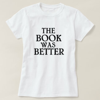 El libro era una mejor camiseta polera