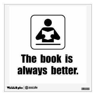 El libro es mejor vinilo decorativo