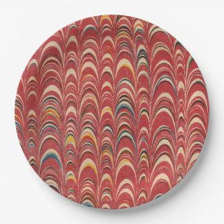 El libro Marbleized perfecto como placa de papel Platos De Papel