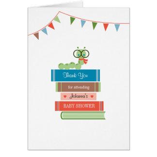 El libro para la fiesta de bienvenida al bebé le tarjeta pequeña