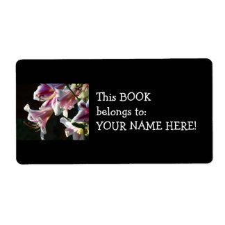 El libro pertenece a su etiqueta conocida del etiqueta de envío