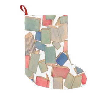 El libro riega el almacenamiento del navidad bota navideña pequeña