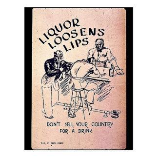 El licor afloja los labios tarjetas postales